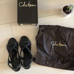 Cole Haan Black Air Darleen Sandal Wedge
